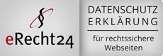 eRecht24 - Datenschutzsiegel