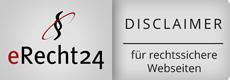 eRecht24 - Siegel Disclaimer